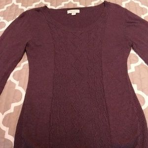 Dark purple maternity sweater